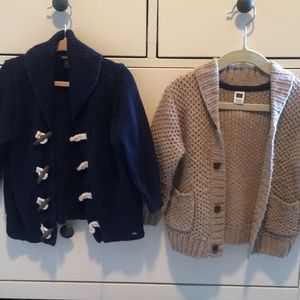 Two beautiful toddler boy sweaters, 18-24 months